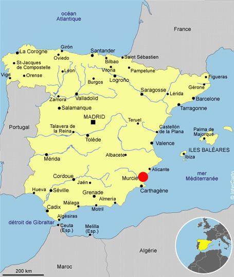 Carte D Espagne Murcia | My blog